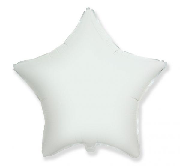 Фолиев балон звезда цвят бял, 46 см Flexmetal, /Gd/