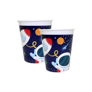 Хартиена парти чашка Космос 250 мл, пакет 8бр.