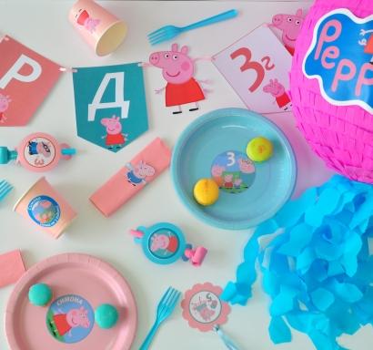 Промо тематичен пакет х10 Пепа Пиг за момиче