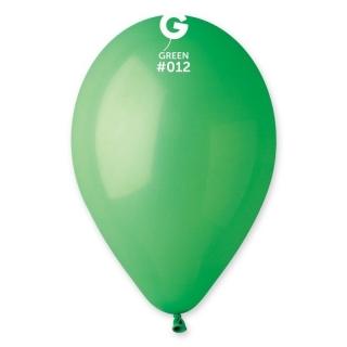 Балон  цвят зелен пастел, диаметър 26 см, 10 бр. в пакет Gemar Италия