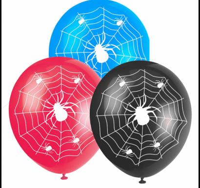 Балон с печат Спайдърмен, Паяци, Паяжина, диаметър 30 см, 5 бр. в пакет микс цветове