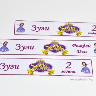 Персонализиран парти етикет за бутилка с вода Принцеса София