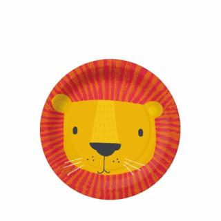 Хартиена парти чинийка Лъв, сафари, джунгла / Lion Mask 20 см. диаметър, 10 бр. в опаковка /Gd/
