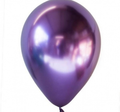 Балон хром лилаво, диаметър 13 см, 10 бр в пакет