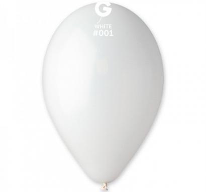 Балон бял пастел, диаметър 26 см, 10 бр. в пакет Gemar Италия