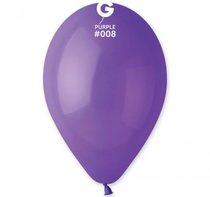 Балон  цвят тъмно лилаво пастел, диаметър 26 см, 10 бр. в пакет Gemar Италия