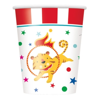 Хартиена парти чашка Цирк Карнавал 250 мл, Cirkus Carnival