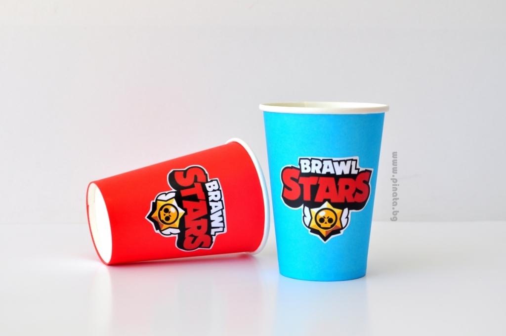 Персонализирана хартиена парти чашка 270 мл Брол Старс Brawl Stars