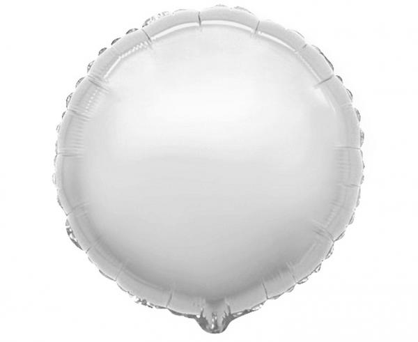 Фолиев балон кръг цвят сребро, 45 см Flexmetal, /Gd/