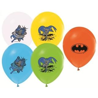 Балон с печат Батман, диаметър 30 см, 5 бр. в пакет, лицензирани