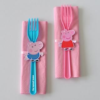 Парти комплект салфетка и вилица Пепа Пиг