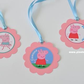 Персонализиран парти медальон Пепа Пиг