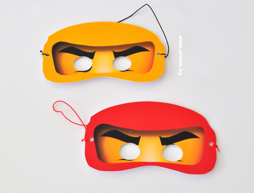 Парти маска Лего Нинджаго