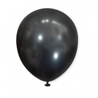 Балон хром черен графит, диаметър 13 см, 10 бр в пакет