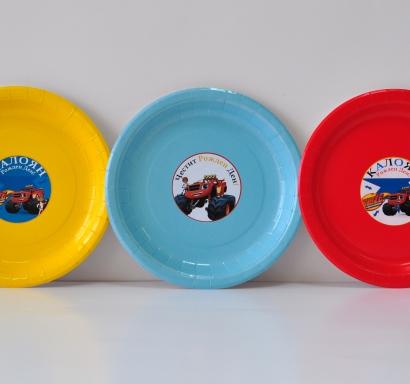 Персонализирана хартиена парти чинийка Блейз / Пламъчко