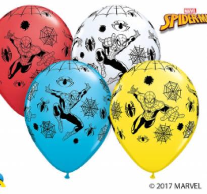 Комплект 5 бр. балони с печат Спайдърмен, микс цветове - лиценз Марвел /Gd/