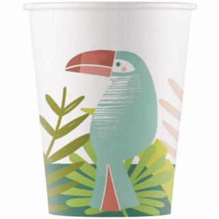 Хартиена парти чашка Тукан / Toucan  200 мл, 8 бр. в опаковка /Gd/