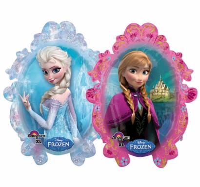 Фолиев балон фигура Елза и Ана Замръзналото кралство 2, две лица, 78 см лиценз Anagram /Gd/