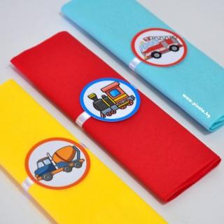 Парти салфетки Транспортни средства, 33х33 см, 5 бр. пакет