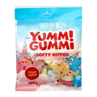 Пакет желирани бонбони Рошен Сладки Хипопотамчета / Yumm Gummi 100 гр.