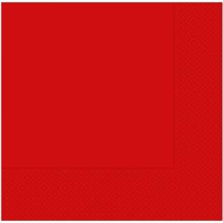 Парти салфетки 33х33 см червени