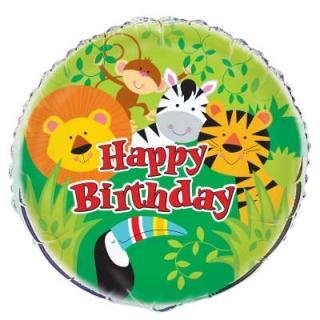 Фолиев балон Джунгла Сафари Животни 45 см диаметър, Animal Safari