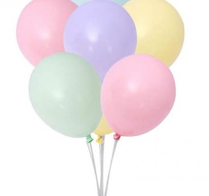 Балон тип Макарон /Macaron/ 30см, 6бр пакет, микс цветове
