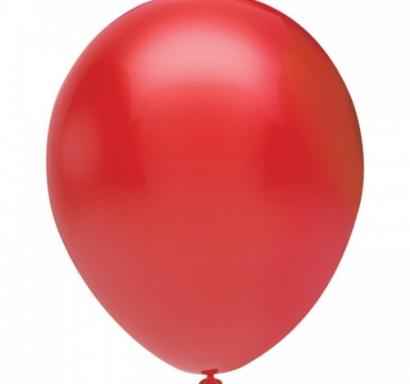 Балон червен пастел, диаметър 30 см, 10 бр. в пакет