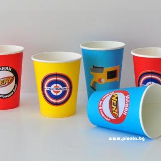 Персонализирана хартиена парти чашка 270 мл Нърф/Nerf