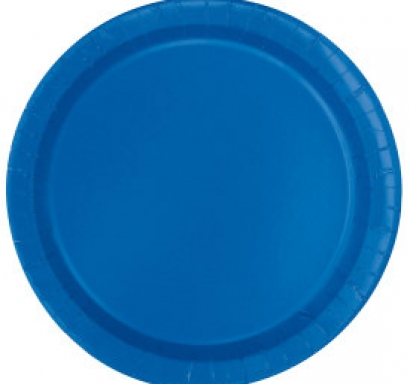 Хартиена парти чинийка синя, 23 см