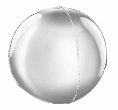 Фолиев балон сфера,  диаметър 40 см, цвят сребро /Gd/