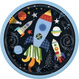 Хартиена парти чинийка Космос 23 см / Outter Space