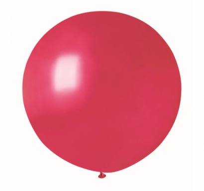 Балон  сфера  диаметър 80 см, червен металик  Gemar G220 /Gd/