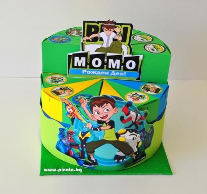 Хартиена торта с тематична декорация Бен Тен