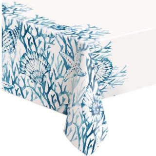 Покривка за еднократна употреба Морско дъно, 137х213 см, Blue Reef