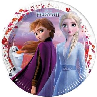 Хартиена парти чинийка Елза и Ана Замръзналото кралство 2 / Frozen 2,  23 см, лицензирани Дисни