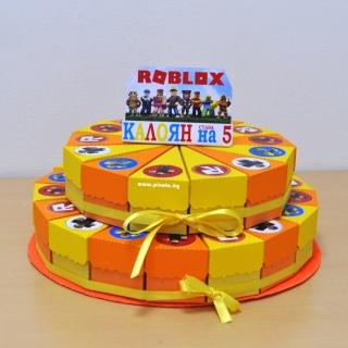Хартиена торта с капаче Роблокс