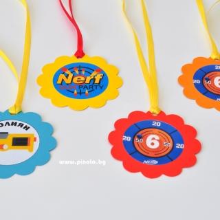 Персонализиран парти медальон Нърф / Nerf