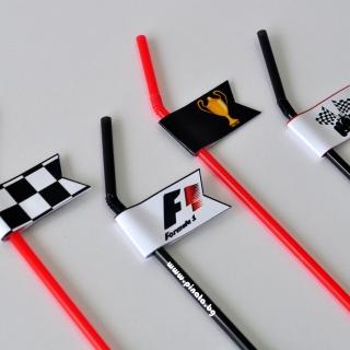 Парти сламки с облър Формула 1, 5 бр. в пакет