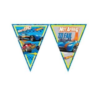 Банер гирлянд за декорация Хот Уилс, 11 флагчета, 3,20 м дължина