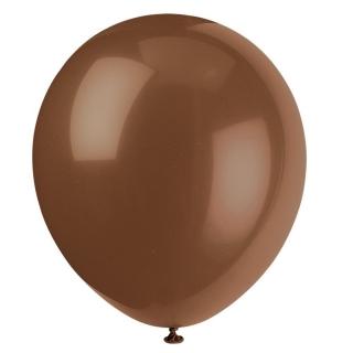Балон  цвят кафе шоколад пастел, диаметър 30 см, 10 бр. в пакет