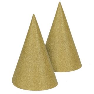 Парти шапка златна брокат, 6 бр. в опаковка