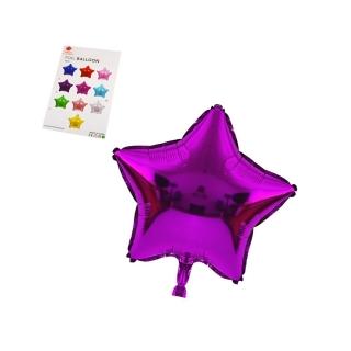"""Балон """"Звезда"""" /фолио/,  циклама 25 см"""