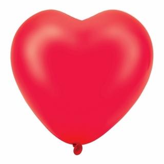 """Балон Сърце червено 30 см /12""""/ 5 бр пакет"""