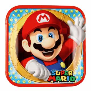 Хартиена парти чинийка Супер Марио / Super Mario 23х23см, 8 бр. в опаковка /Gd/