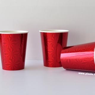 Хартиена парти чашка весела Коледа, 250 мл червена