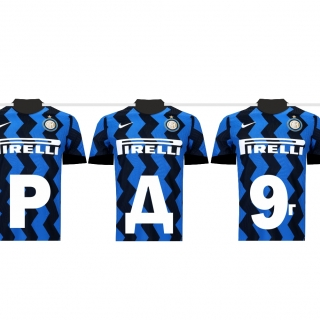 Персонализиран банер Честит Рожден Ден Интер, футбол