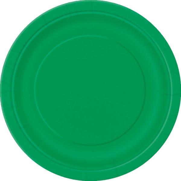 Хартиена парти чинийка тъмно зелена, 23 см