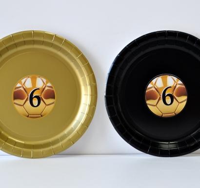 Персонализирана хартиена парти чинийка Футбол Златна топка