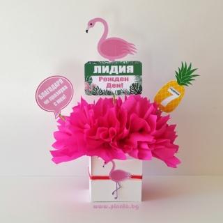 Украса за маса Фламинго